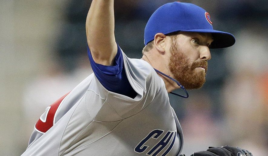 Chicago Cubs' Dan Straily delivers a pitch during the first inning of a baseball game against the New York Mets, Saturday, Aug. 16, 2014, in New York. (AP Photo/Frank Franklin II)