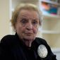 Former Secretary of State Madeleine K. Albright. (Associated Press) ** FILE **