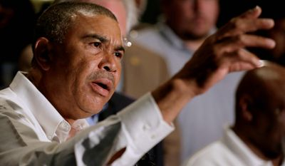 Rep. William Lacy Clay, whose district includes Ferguson, Missouri, says the federal government needs to provide training with weapons. (Associated Press)