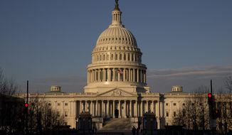 This Dec. 31, 2013, file photo shows the U.S. Capitol in early morning light in Washington. (AP Photo/Jacquelyn Martin, File)