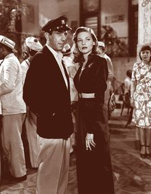 """Bogart and Bacall in """"To Have and Have Not."""""""