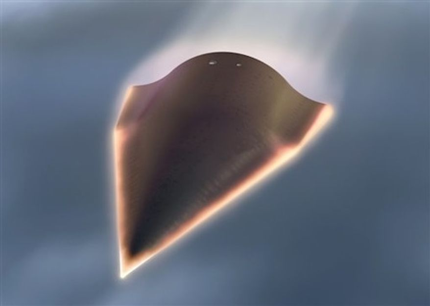 An artistic rendering of the hypersonic aircraft. (Associated Press)
