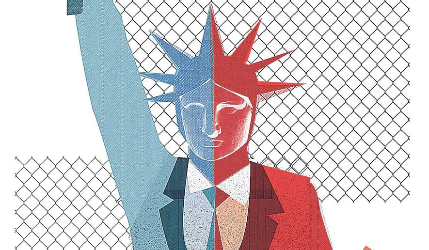 Bipartisan Immigration Reform Illustration by Linas Garsys/The Washington Times