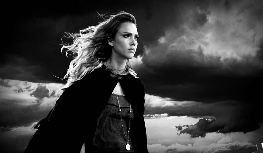 """Jessica Alba returns as part of a high-profile cast in """"Sin City: A Dame to Kill For,"""" a dark, bleak and grim sequel to its 2005 predecessor. (The Weinstein Company via Associated Press)"""