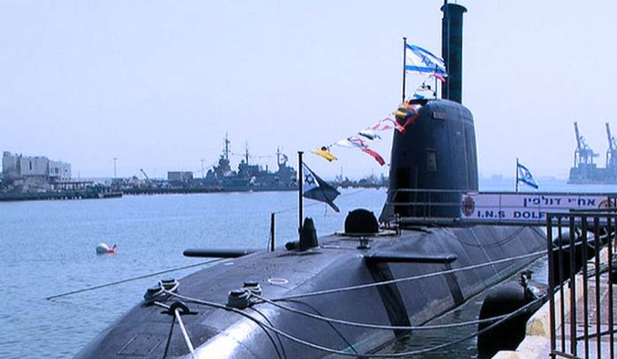 A Dolphin class submarine developed and constructed by Howaldtswerke-Deutsche Werft for the Israeli Navy. (Wikimedia Commons)