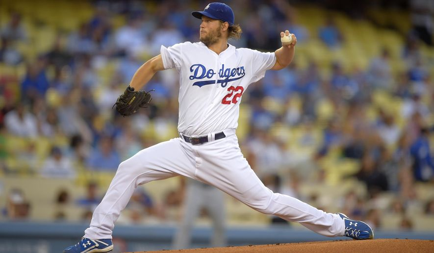 Los Angeles Dodgers starting pitcher Clayton Kershaw throws to the plate during the first inning of a baseball game against the San Diego Padres, Thursday, Aug. 21, 2014, in Los Angeles. (AP Photo/Mark J. Terrill)