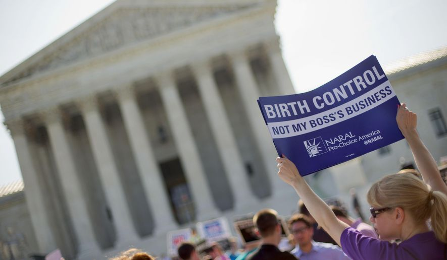 One of the dozens of cases awaiting decisions by the Supreme Court in the wake of Justice Antonin Scalia's death involves a Christian college that could be forced to provide contraceptive health care coverage to its employees. (Associated Press/File)