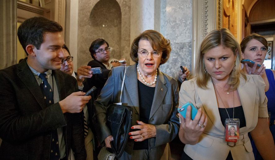 Current and former intelligence officials are furious at the Senate Intelligence Committee, headed by Sen. Dianne Feinstein, California Democrat. They say the panel did not interview the senior managers of the interrogation program launched after the Sept. 11 attacks nor the CIA directors who oversaw it. (Associated Press)