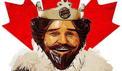 """Burger King's """"King"""" Illustration by Greg Groesch/The Washington Times"""