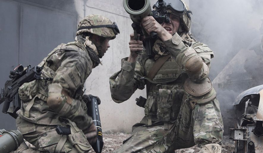 Soldiers fire the Carl Gustav recoilless rifle from the Swedish company Saab. (Image: Saab)