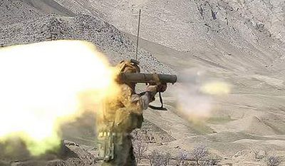 A U.S. Special Forces soldier fires a Carl Gustav in Zabul province, Afghanistan, on March 8, 2014. (U.S. Army)