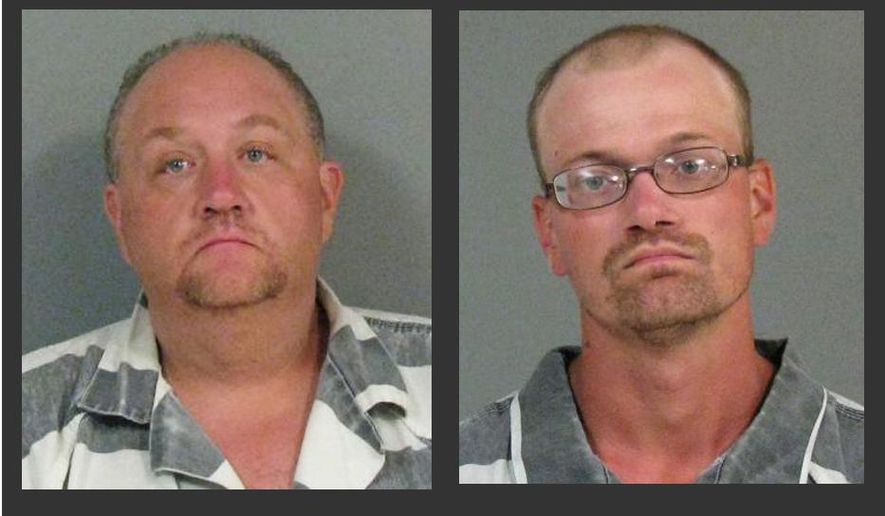 These undated photos provided by the Chautauqua County Sheriff's Office shows Jonathan Conklin, left, and Charles Sanford. Conklin and Sanford were arrested Friday, Aug. 22, 2014, in the fatal shooting of Mary Whitaker, an orchestra musician, during a robbery in her western New York home on Aug. 20, authorities said. (AP Photo/Chautauqua County Sheriff's Office)