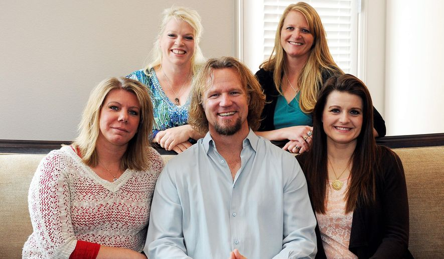 Kody Brown and his four wives sued Utah in 2011 after a county prosecutor threatened to charge them under the state's bigamy law. A federal judge in Utah this week issued a final ruling that strikes down parts of the state's anti-polygamy law. (Associated Press Photographs)