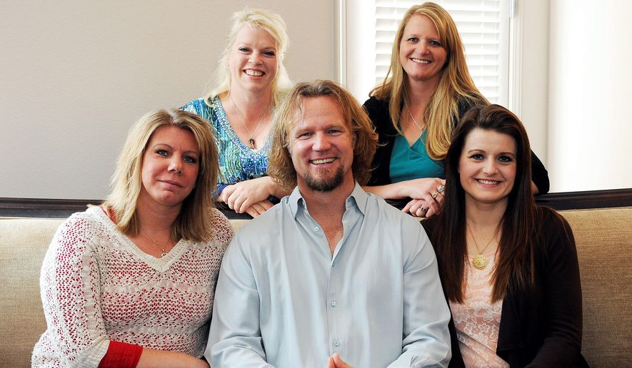 Kody Brown and his four wives sued Utah in 2011 after a county prosecutor threatened to charge them under the state's bigamy law. A federal judge in Utah this week issued a final ruling that strikes down parts of the state's anti-polygamy law. (Associated Press) ** FILE **