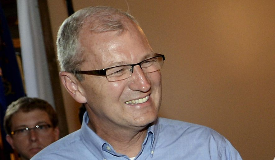 U.S. Rep. Kevin Cramer, R-N.D., participates at a fundraiser in Lincoln, N.D., in this Aug. 15, 2014, file photo. (AP Photo/Will Kincaid, File)
