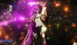 Abigail Walker and her neon-infused powers star in the video game Infamous: First Light.
