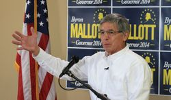 Byron Mallott won Alaska's Democratic gubernatorial primary but trails Gov. Sean Parnell, a Republican, by a wide margin. Political strategists think he can win office with an independent candidate on the ticket. (Associated Press)