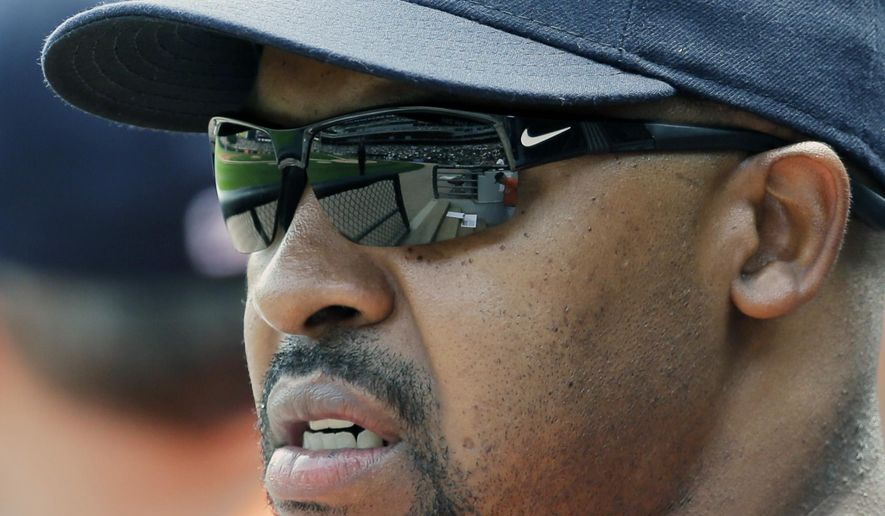 "FILE - In this july 20, 2014, file photo, Houston Astros manager Bo Porter watches his team during the first inning of a baseball game against the Chicago White Sox in Chicago. The Astros have fired manager Bo Porter in his second season with the club. General manager Jeff Luhnow says the decision wasn't based on Houston's record but because ""we need a new direction in our clubhouse."" The Astros entered Monday, Sept. 1, 2014, in fourth place in the AL West with a 59-79 record, second worst in the league.  (AP Photo/Nam Y. Huh, File)"