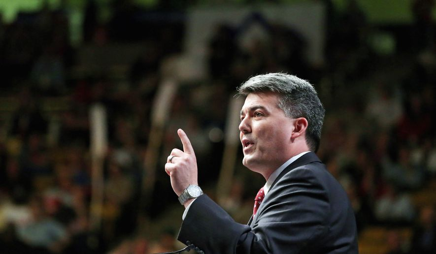 Rep. Cory Gardner, a Republican Senate candidate in Colorado, wants to see birth control pills handed out over the counter. (Associated Press)