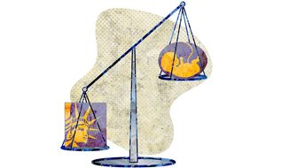 NARAL Fetus Scale Illustration by Greg Groesch/The Washington Times