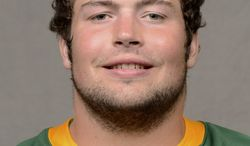 This undated photo provided by the North Dakota State Athletics Department shows nose tackle Brian Schaetz. North Dakota State has its share of recruits who have turned down feelers from big-time schools, but the Bison have built their program into a Football Championship Subdivision power mostly by developing players from the B-list. Brian Schaetz is a prime example. Schaetz is a junior defensive tackle who grew up on a dairy farm near Denmark, Wis., and didn't attract much attention from college scouts.  (AP Photo/Courtesy of the North Dakota State Athletics Department)