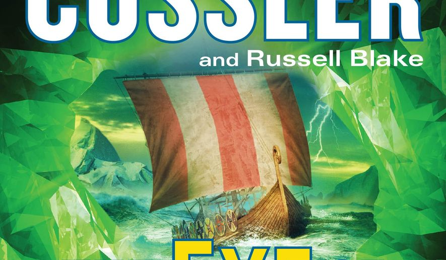 "This photo provided by Putnam shows the cover of the book, ""The Eye of Heaven,"" by authors, Clive Cussler and Russell Blake. (AP Photo/Putnam)"
