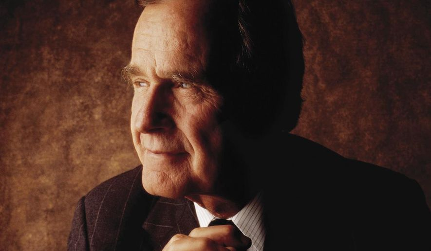 "This photo provided by Crown shows the cover of ""41: A Portrait of My Father,"" a book about former President George H.W. Bush by his son, former President George W. Bush. Crown released the cover on Wednesday, Sept. 3, 2014, and announced that the younger Bush will narrate the audio edition of the book. (AP Photo/Crown)"