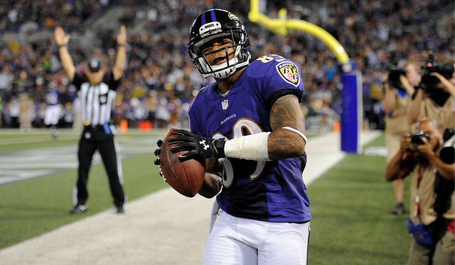 Ravens wide receiver Steve Smith has been a welcome addition to an offense that lacked a fiery leader. (Associated Press)