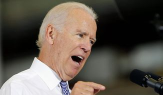 "Vice President Joseph R. Biden galvanized the press and jolted the public when he vowed to pursue the Islamic State ""to the gates of Hell"" during an appearance at a New Hampshire shipyard Wednesday. (Associated Press)"