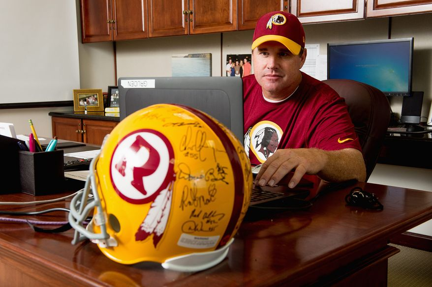 From the days he was throwing passes at Buccaneers practice as a youngster, to the records he set in high school, to the Arena League championship trophies he held high above his head, Jay Gruden finally gets his chance to be a head coach in the NFL with the Redskins. (Andrew HARNIK/The Washington Times)