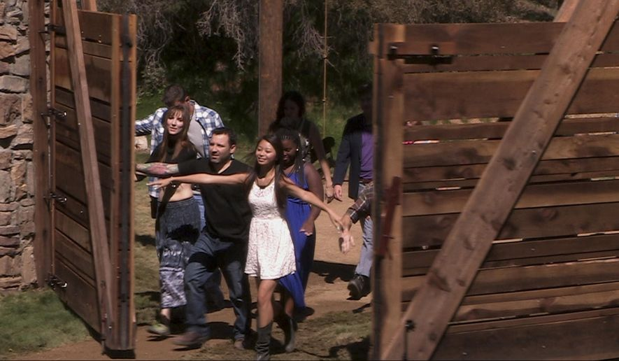"This photo released by Fox shows a scene from the new Fox reality TV series, ""Utopia."" The show premieres on Sunday, Sept. 7, 2014, (8:00-10:00 PM ET/PT) before continuing in its regular time period, Tuesday, Sept. 9 (8:00-9:00 PM ET/PT), with six special broadcasts on Fridays (8:00-9:00 PM ET/PT), beginning Sept. 12 on Fox. (AP Photo/Fox)"