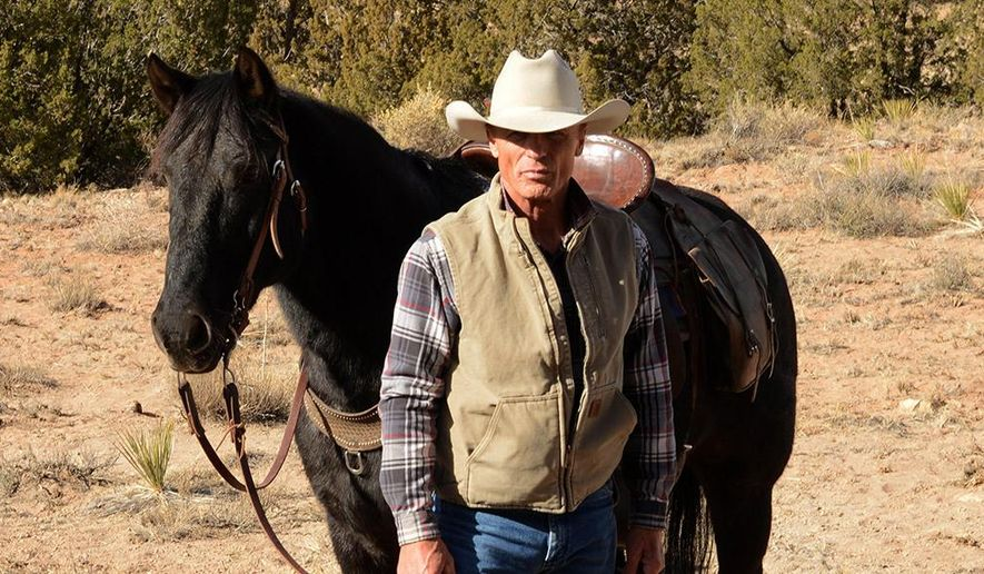 "This photo released by courtesy of Magnolia Pictures shows Ed Harris in a scene from the film, ""Frontera,"" a Magnolia Pictures release. (AP Photo/Courtesy Magnolia Pictures)"