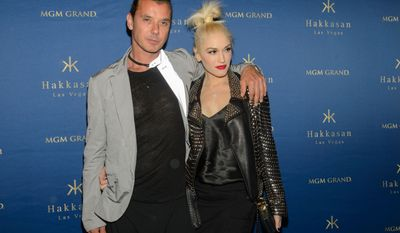 Hakkasan Las Vegas celebrates their one-year anniversary with Gwen Stefani and Gavin Rossdale in Las Vegas on April 26, 2014. (Al Powers/Powers Imagery/Invision/AP)