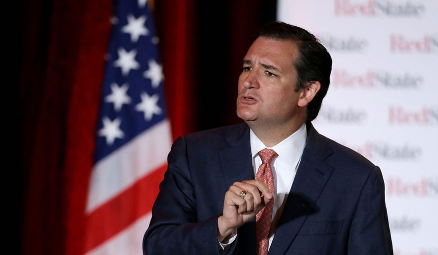 Sen. Ted Cruz, Texas Republican, said President Obama must come to Congress to authorize strikes in Syria. (Associated Press)