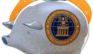 Import-Export Piggy Bank Illustration by Greg Groesch/The Washington Times