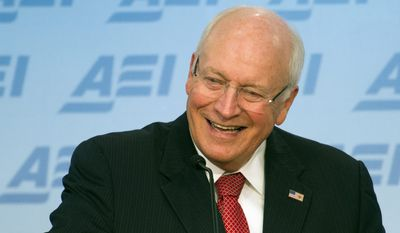 Predecessor: Former Vice President Dick Cheney spoke at the American Enterprise Institute in Washington, where he publicly castigated President Obama's lack of focus on the Islamic State. (Associated Press)