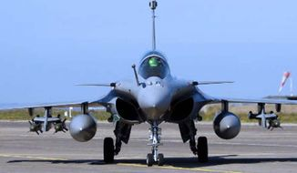 ** FILE ** A French Air Force Rafale jet fighter. (Associated Press)