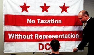 A bill is before Congress to once again take up the issue of statehood for the District of Columbia. (Nancy Pastor/The Washington Times) **FILE**