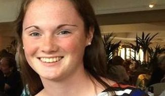 Missing University of Virginia student Hannah Elizabeth Graham is seen in an undated photo provided by the Charlottesville, Va., Police Department. University of Virginia President Teresa A. Sullivan says the university community is deeply concerned about Graham, who has been missing since early Saturday, Sept. 13. Police say she was last heard from at 1:20 a.m. Saturday when she texted a friend. According to U.Va. officials, Graham is 5-foot-11 with blue eyes, light brown hair and freckles. Anyone with information on Graham's whereabouts is asked to contact the Charlottesville Police Department at 434-970-3280. (AP Photo/Charlottesville, Va., Police Department)