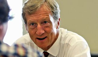 Billionaire Democratic fundraiser Tom Steyer (Associated Press) **FILE**