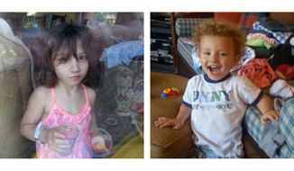 These undated handout images provided by the Montgomery County, Md., Police Department, shows, from left, Catherine Hoggle, Sarah Hoggle and  Jacob Hoggle. (AP Photo/Montgomery County, Md., Police Department)
