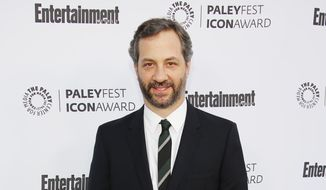 "In this March 10, 2014 file photo, Judd Apatow, 2014 PaleyFest Icon Award recipient, arrives at 2014 PaleyFest Icon Award celebration at The Paley Center for Media, in Beverly Hills, Calif. Netflix says the filmmaker Apatow is co-creating a new series that will take a comic look at modern relationships. Netflix said Tuesday, Sept. 16, 2014, it has made a two-season commitment to the series, titled ""Love."" (Photo by Annie I. Bang/Invision/AP, file)"
