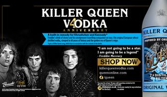 "British rock band Queen has unveiled its very own ""Killer Queen"" vodka to celebrate late frontman's Freddie Mercury favorite drink of choice. (QueenOnline.com)"