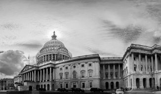 Panoramic photo composite of the U.S. Capitol Building, Washington, D.C., Thursday, September 18, 2014. (Andrew Harnik/The Washington Times)