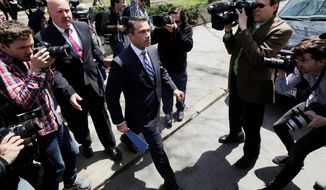 Rep. Michael Grimm, who repeatedly proclaimed his innocence and declined to resign, now finds himself leading former Democratic councilman Domenic Recchia. (Associated Press)