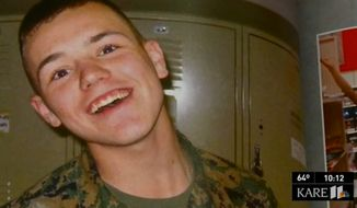 The family of former Marine Jordan Buisman was somehow able to reschedule a VA appointment from his grave. (Image: KARE 11, NBC Minnesota)