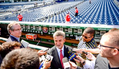 Washington Capitals Chairman & Owner Ted Leonsis speaks to reporters following a press conference announcing the 2015 Bridgestone NHL Winter Classic held at Nationals Park, Washington, D.C., Tuesday, September 23, 2014. (Andrew Harnik/The Washington Times)