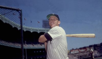 This is an undated 1960's photo of New York Yankees Mickey Mantle. (AP Photo)