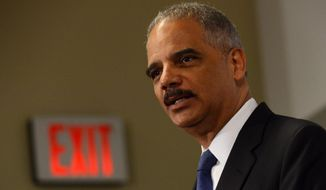 Outgoing Attorney General Eric H. Holder Jr.  (AP Photo/Molly Riley)