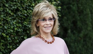 Actress and event host Jane Fonda poses at the Rape Foundation's Annual Brunch at Greenacres on Sunday, Sept. 28, 2014, in Beverly Hills, Calif. (Photo by Danny Moloshok/Invision/AP)